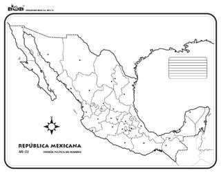 República Mexicana División Política Sn