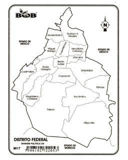 Pulso Digital: Mapa del Distrito Federal con el nombre de
