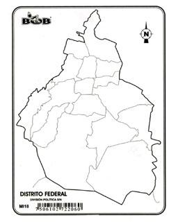 Mapas del Distrito Federal para colorear