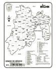 Estado de México – División política c/n