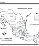 República mexicana – División política c/n