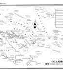 Oceanía – División política c/n