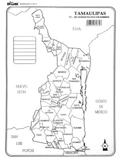 Tamaulipas – División política c/n